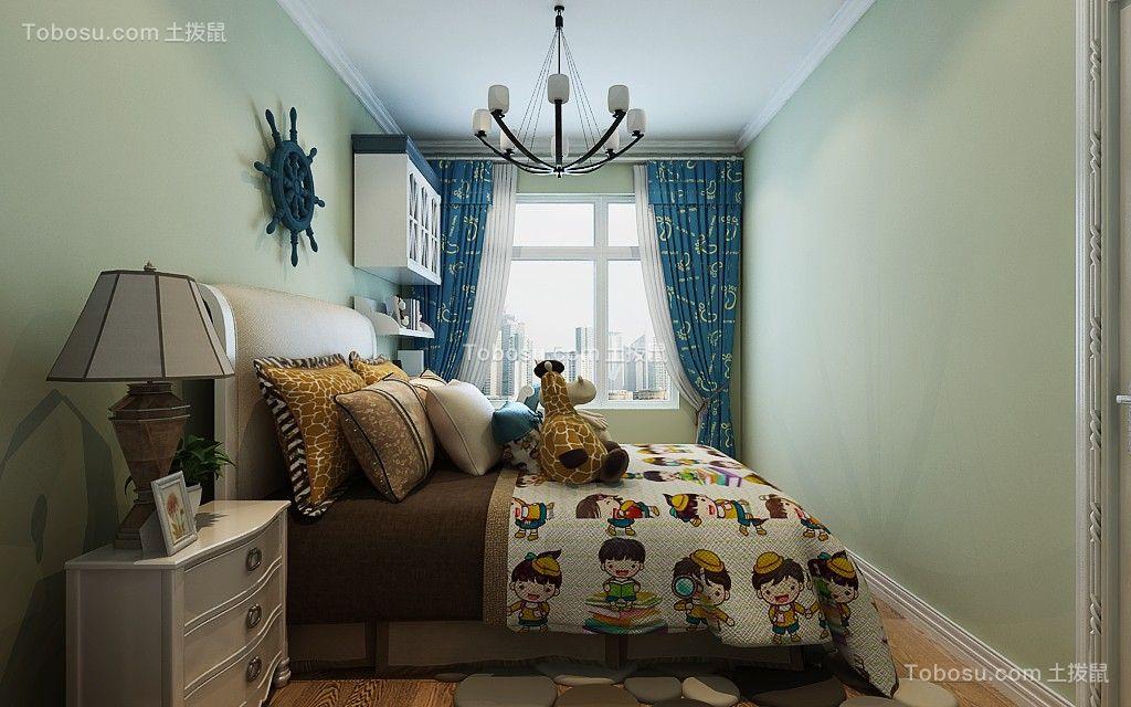 98平地中海风格三居室装修效果图