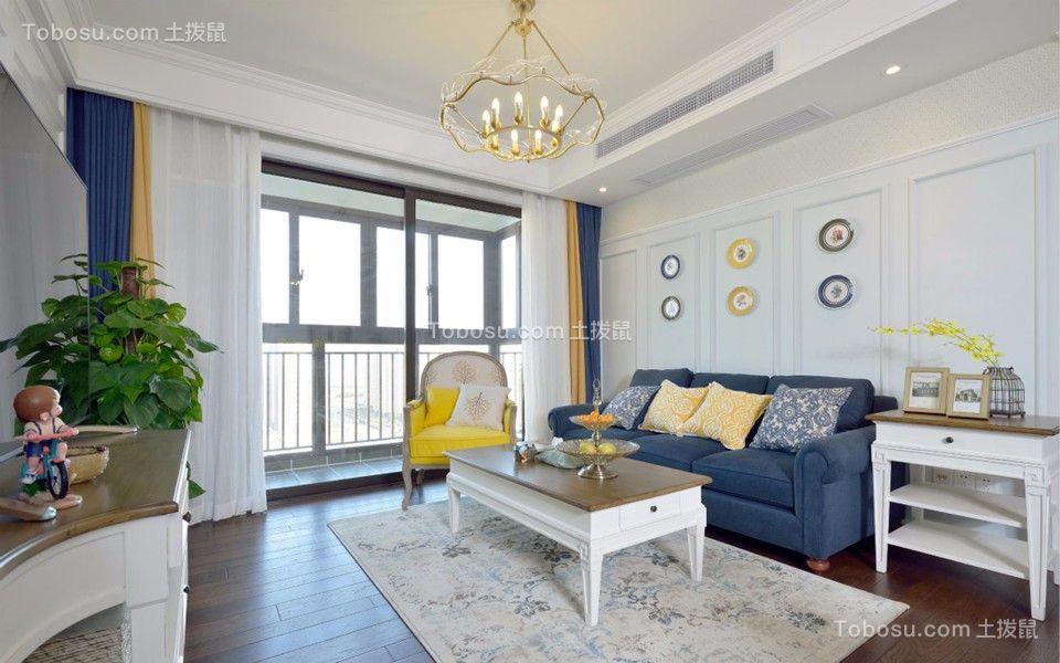 81平美式风格两居室装修效果图