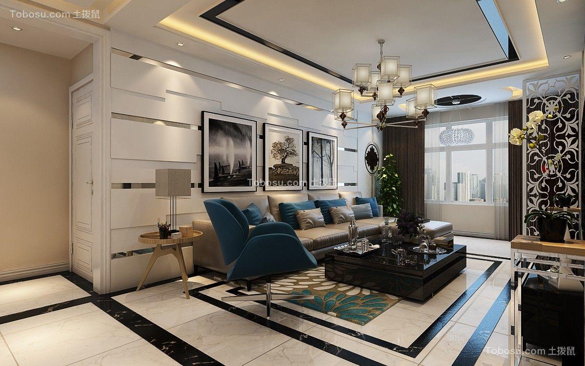 118平现代风格三居室装修效果图