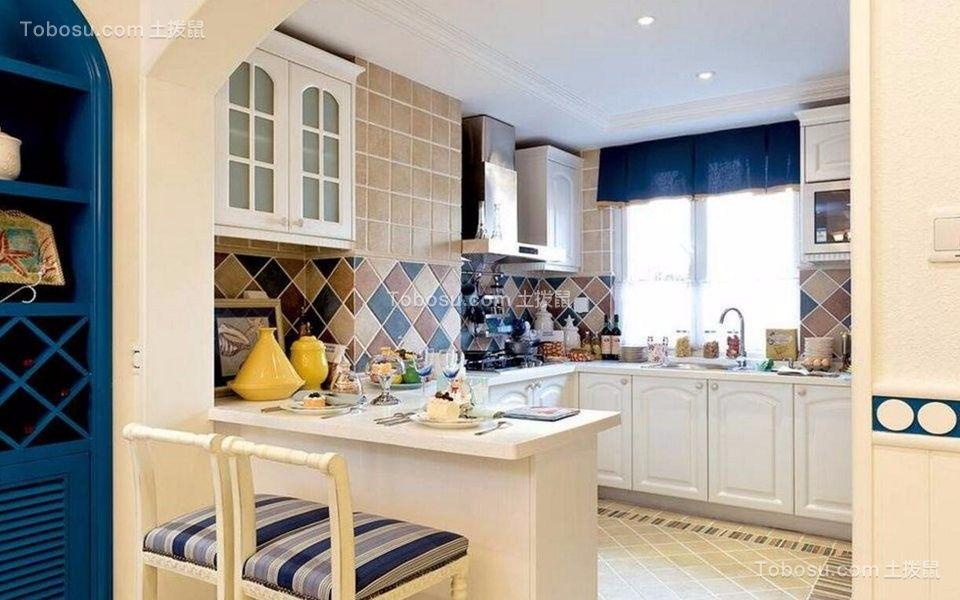 厨房 橱柜_115平地中海风格三居室装修效果图
