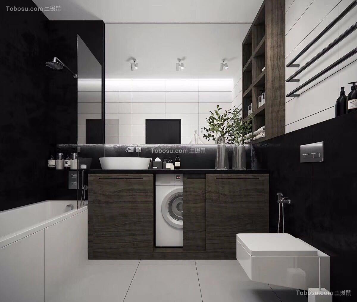 大户型的卫生间设计效果图