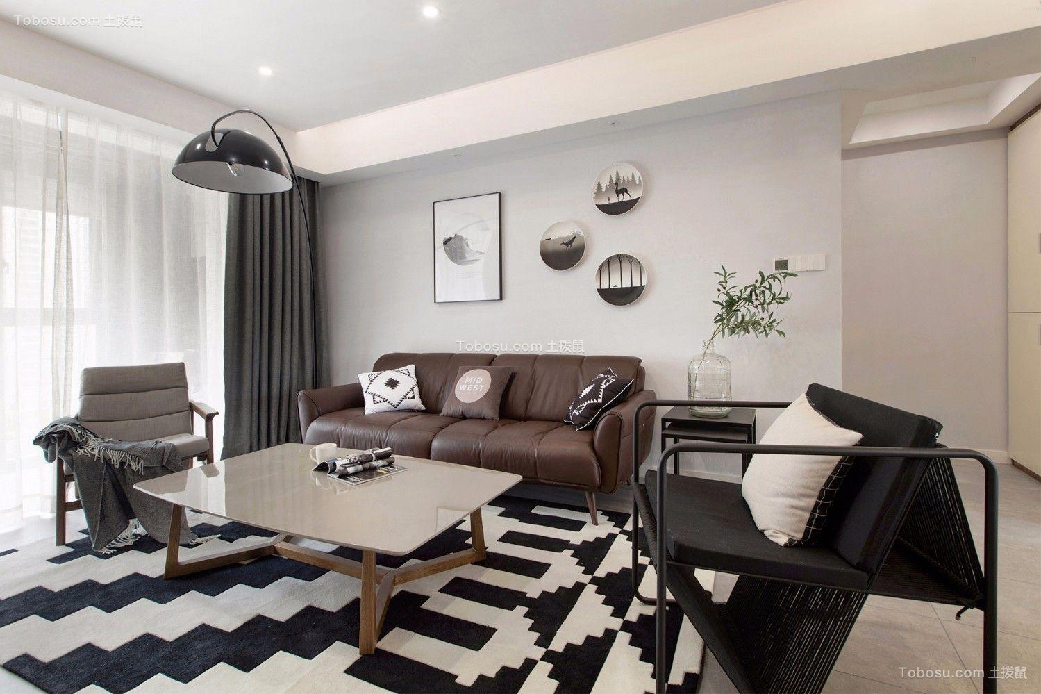 175平北欧风格四居室装修效果图图片