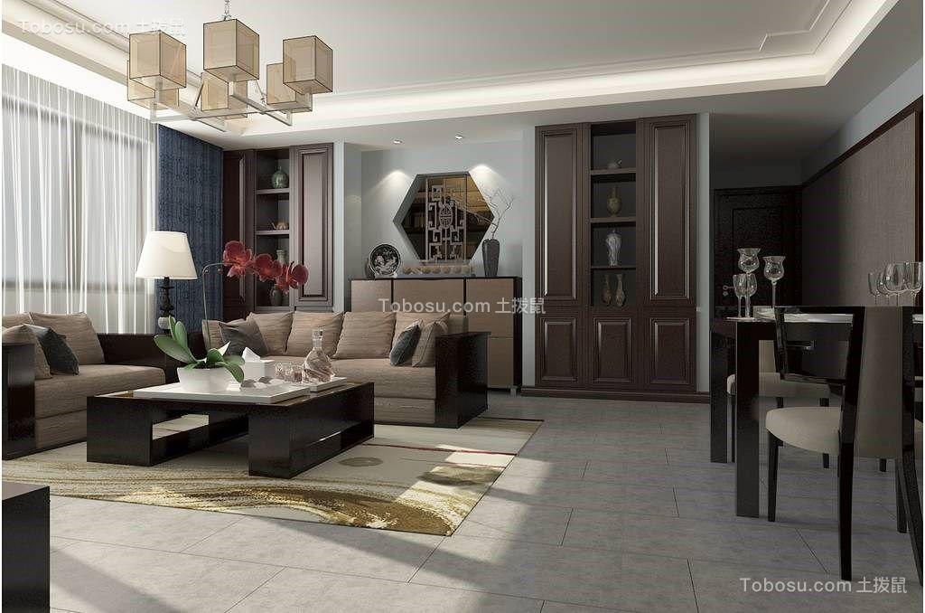 178平新中式风格套房装修效果图
