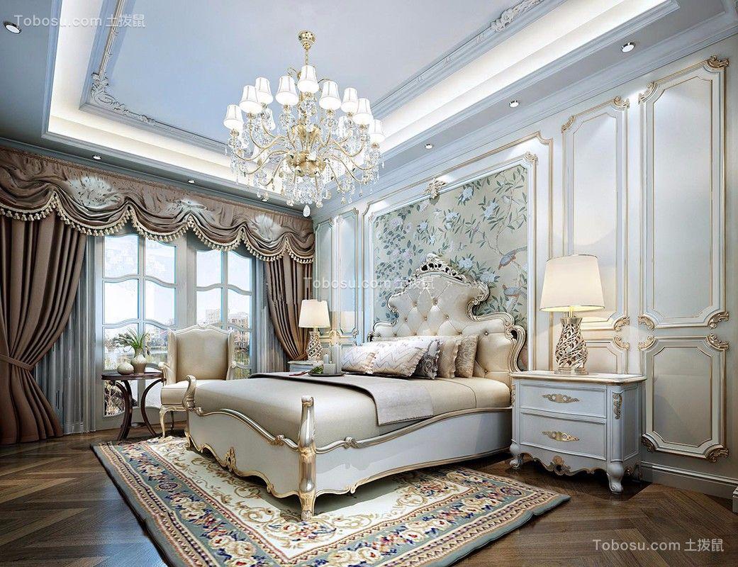 卧室吊顶欧式装修图片