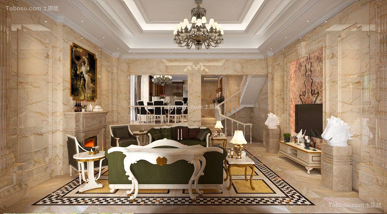 320平欧式风格别墅装修效果图