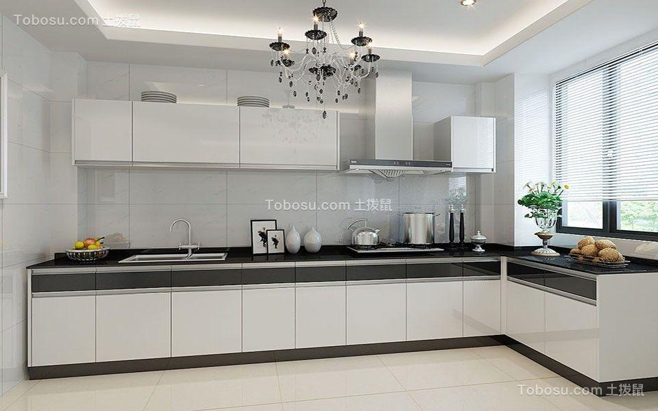 厨房 橱柜_115平现代风格三居室装修效果图