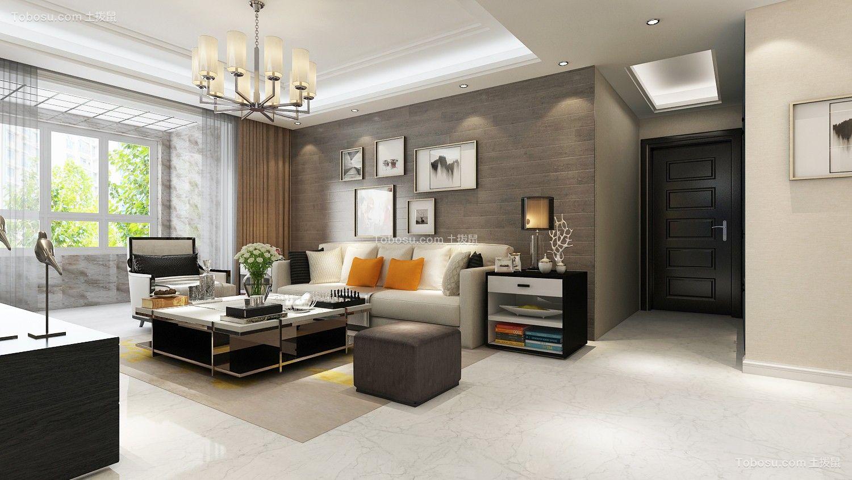 客厅米色沙发北欧风格效果图图片