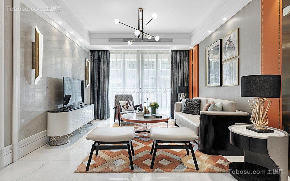 99平现代风格三居室装修效果图