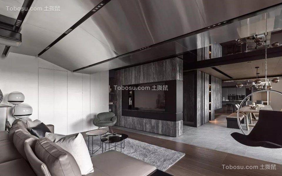 120平现代风格四居室装修效果图
