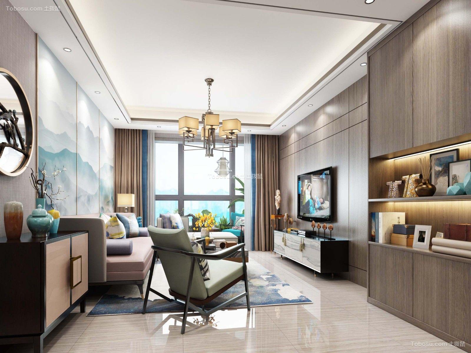 98平现代风格两居室装修效果图