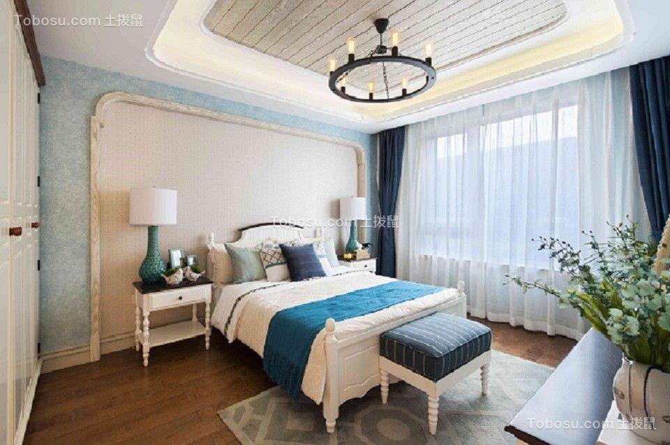 卧室 窗帘_128平地中海风格公寓装修效果图