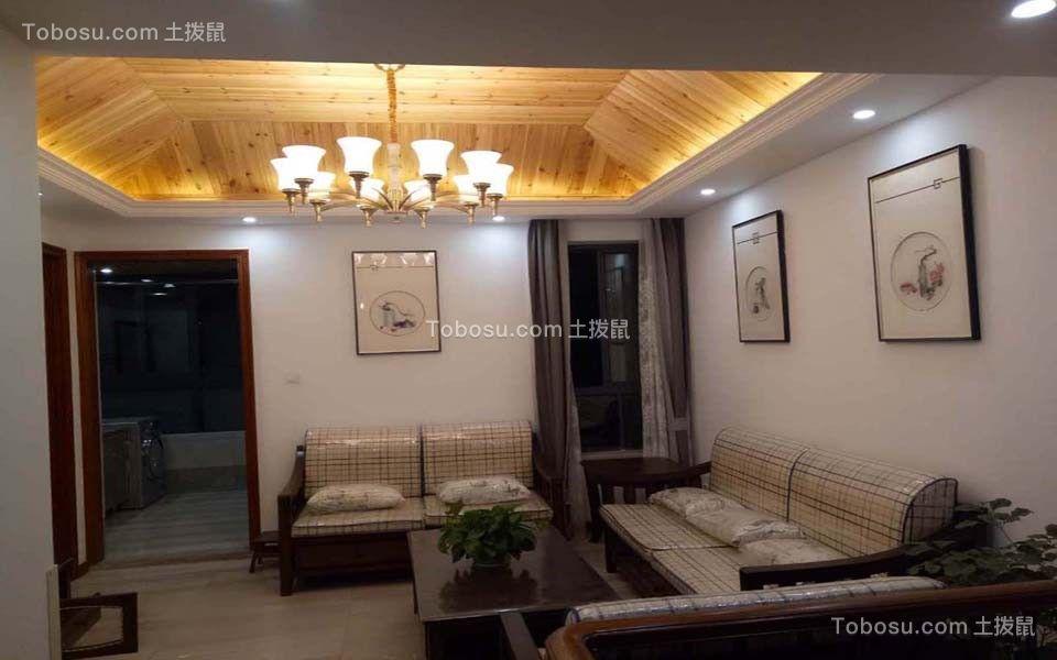 115平现代风格三室两厅装修效果图