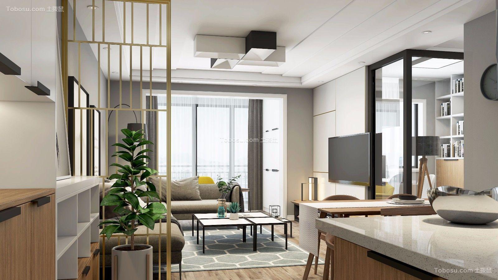 89平现代简约风格三居室装修效果图