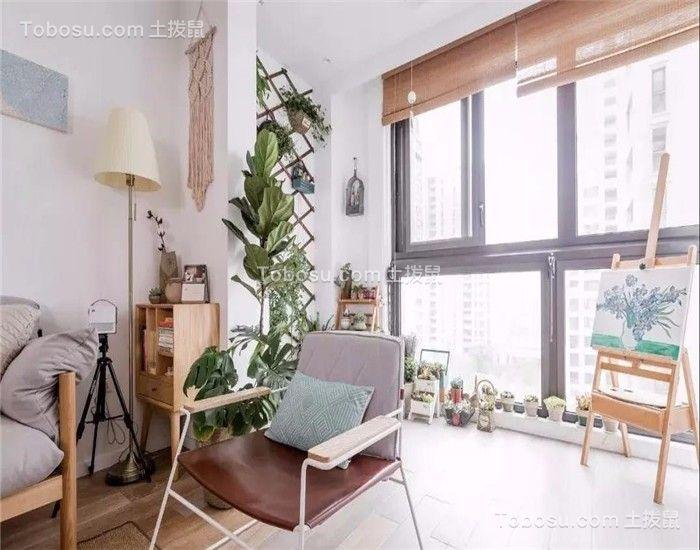 阳台咖啡色落地窗现代风格装潢效果图