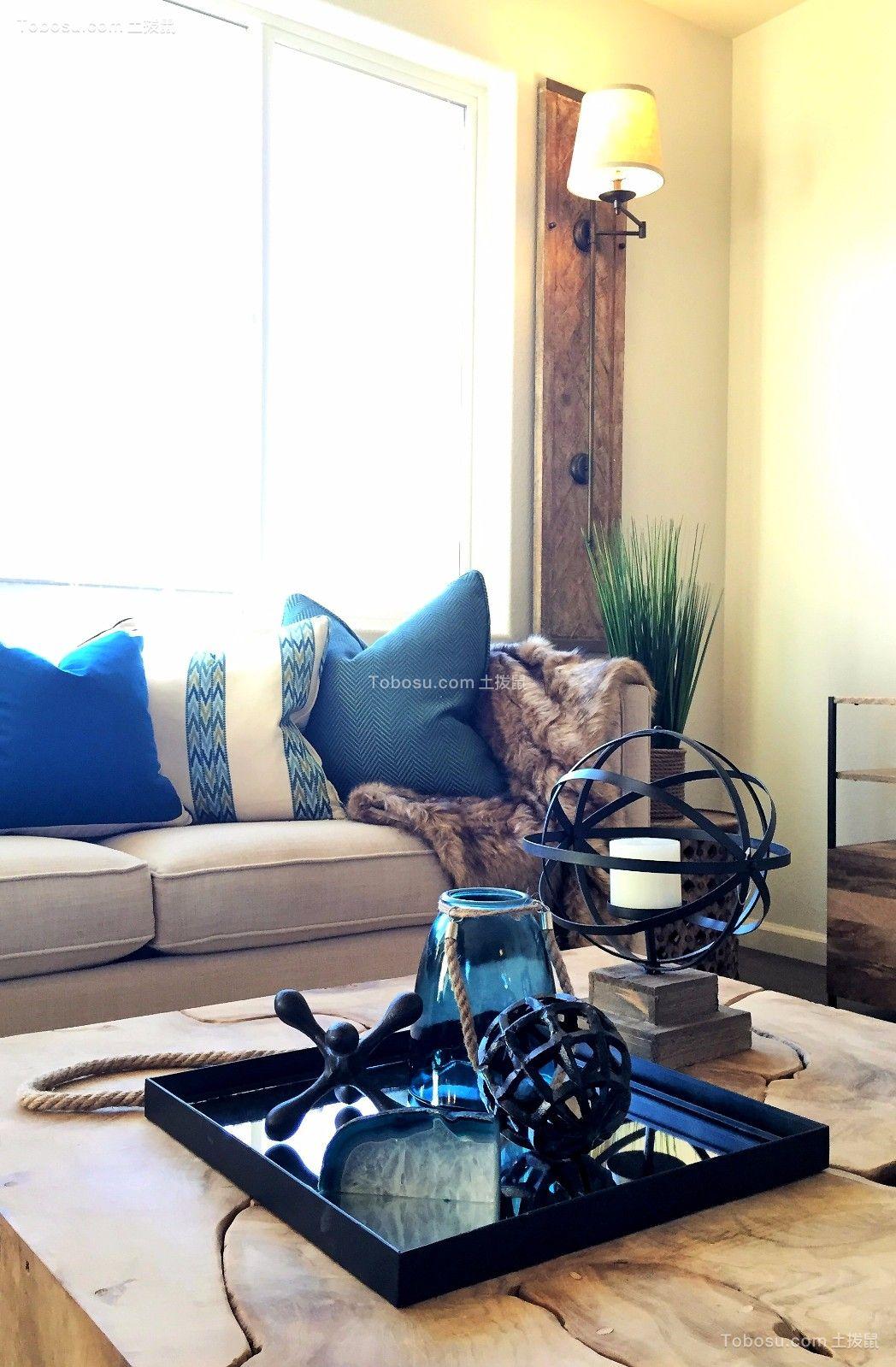 美式客厅茶几室内效果图