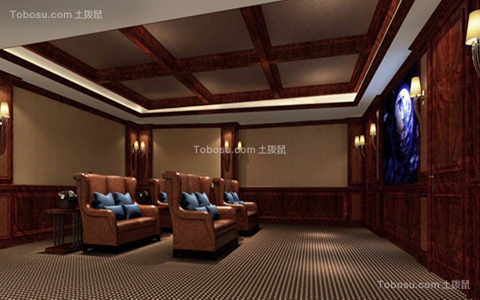 地下室米色背景墙设计方案