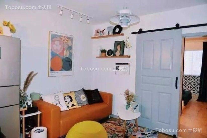 38平简约风格一居室装修效果图