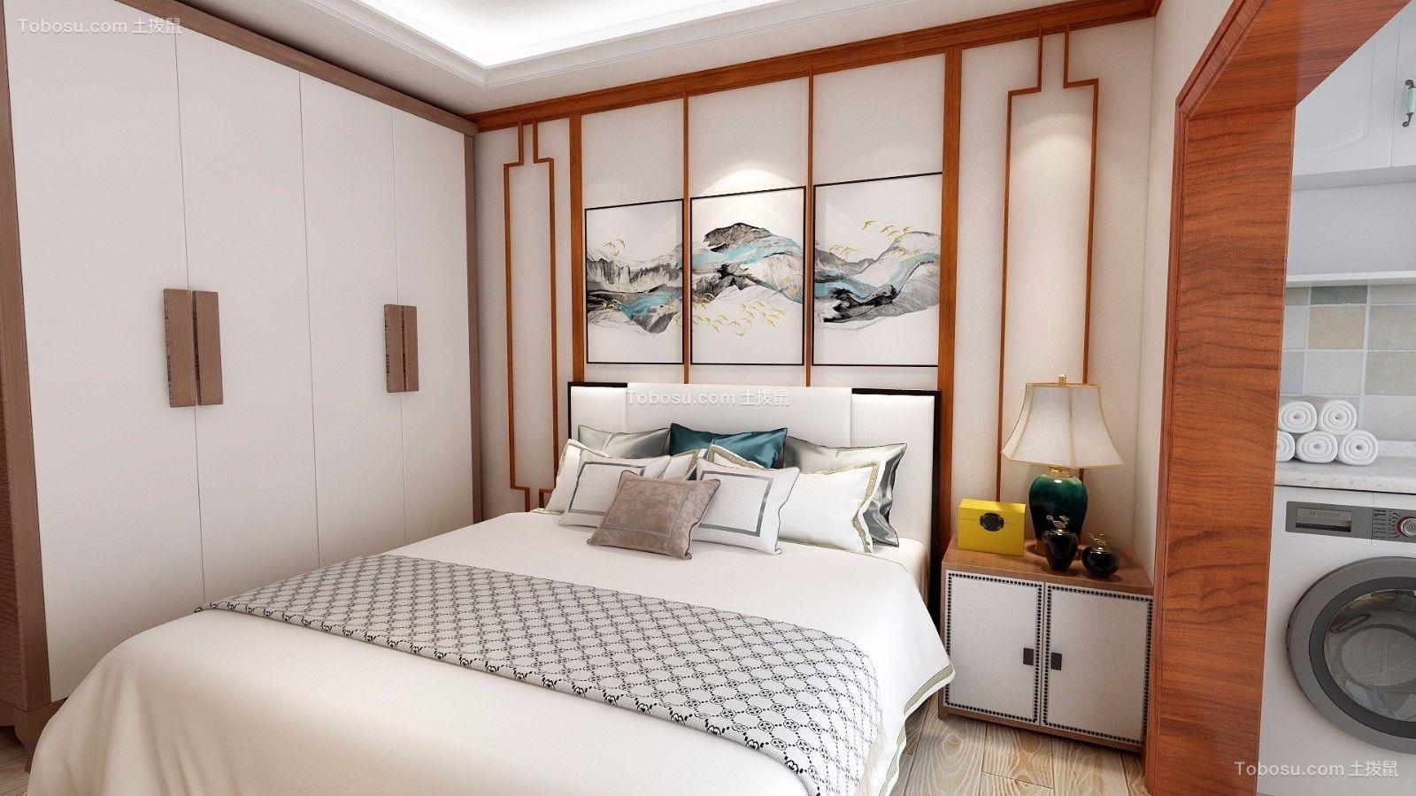 卧室白色衣柜中式风格装饰设计图片