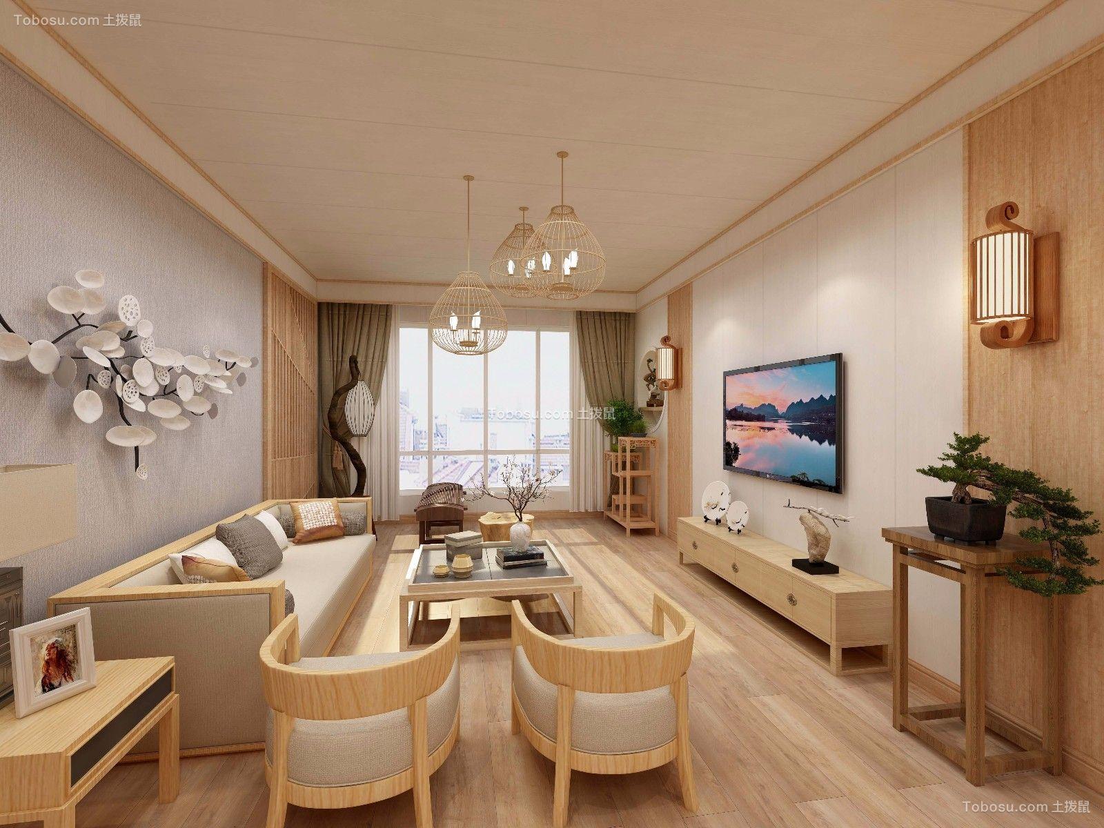 客厅白色吊顶简欧风格装饰效果图_土拨鼠装修效果图图片