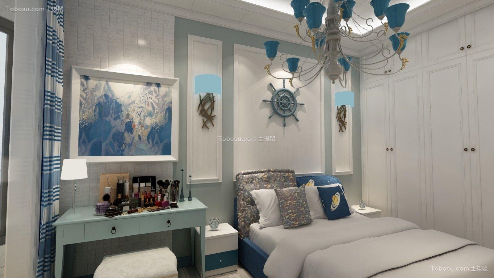 卧室白色背景墙地中海风格装饰设计图片