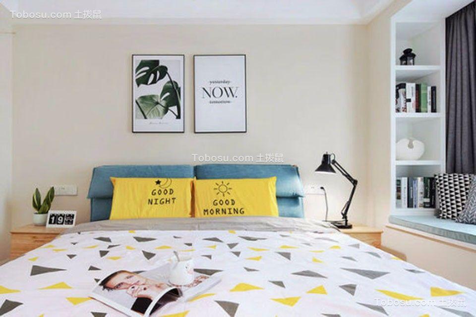 卧室黄色背景墙平面图