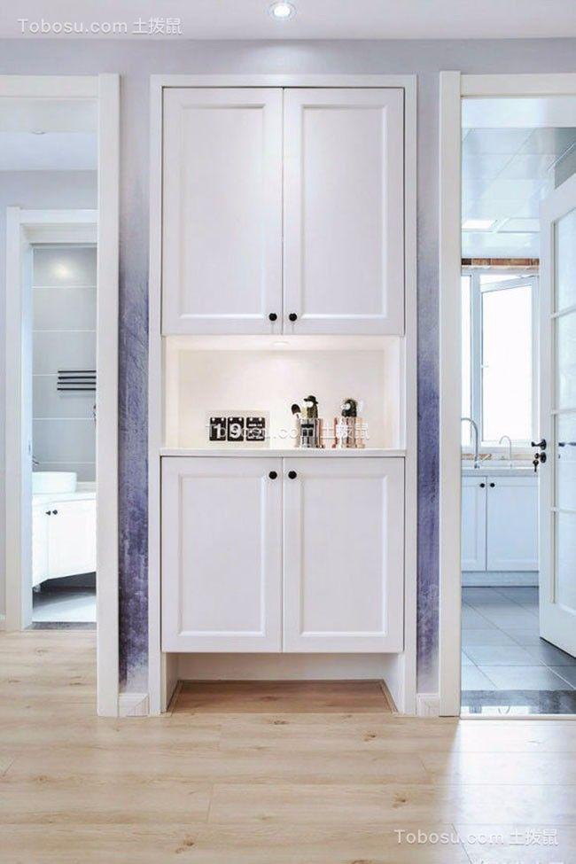 文艺现代欧式白色鞋柜家装设计图