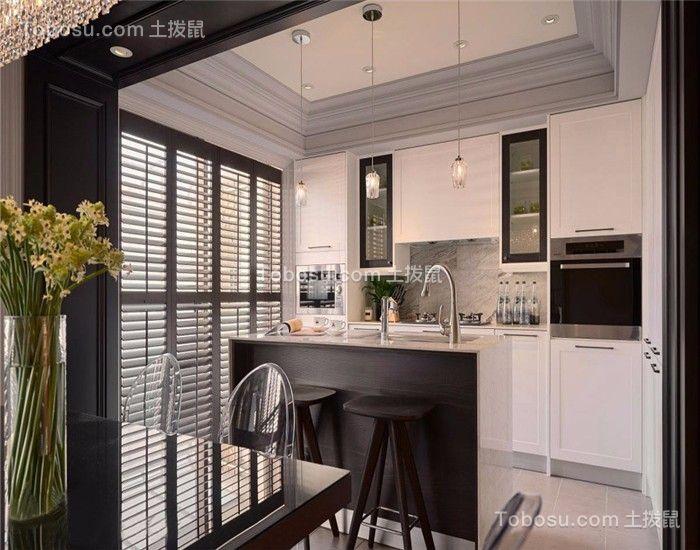 2019新古典厨房装修图 2019新古典橱柜装修效果图片