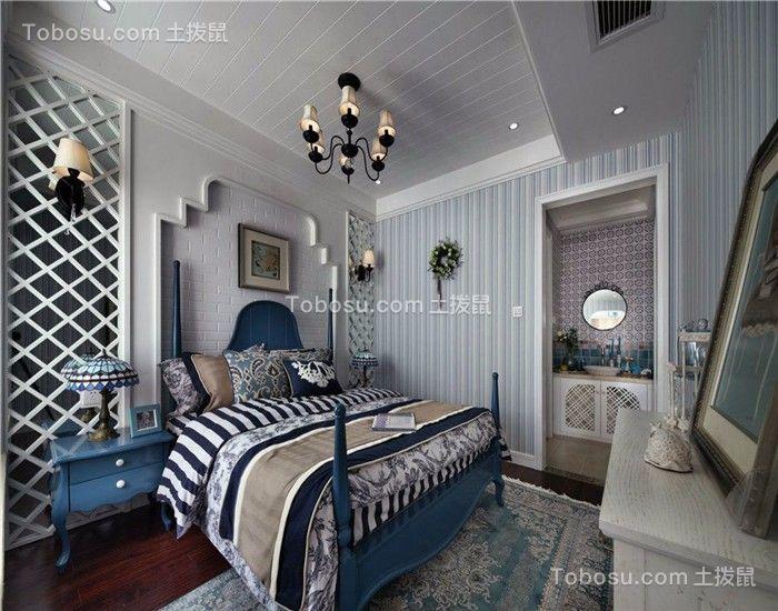 卧室 吊顶_144平地中海风格四居室装修效果图