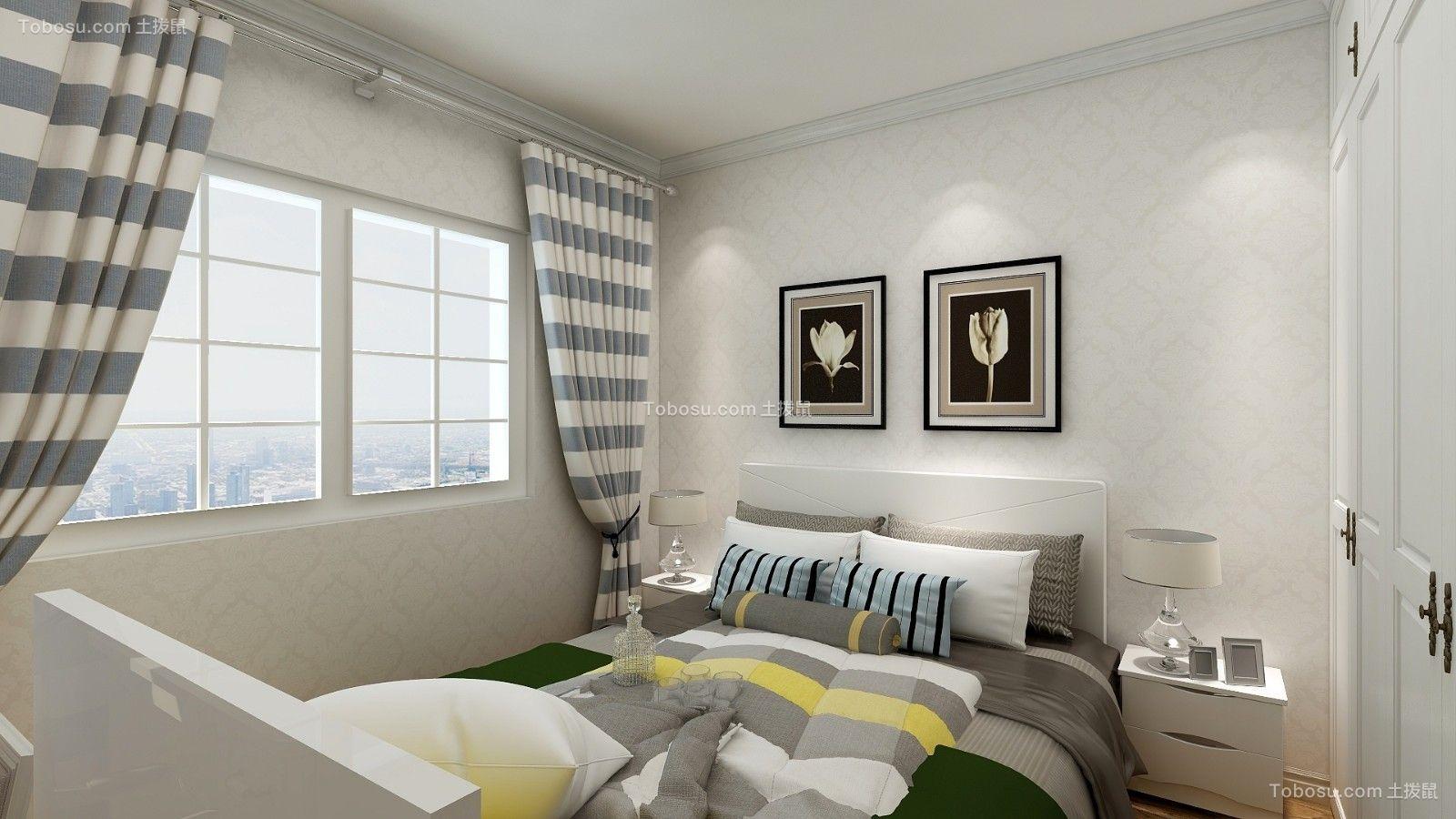 精美绝伦白色床装饰实景图