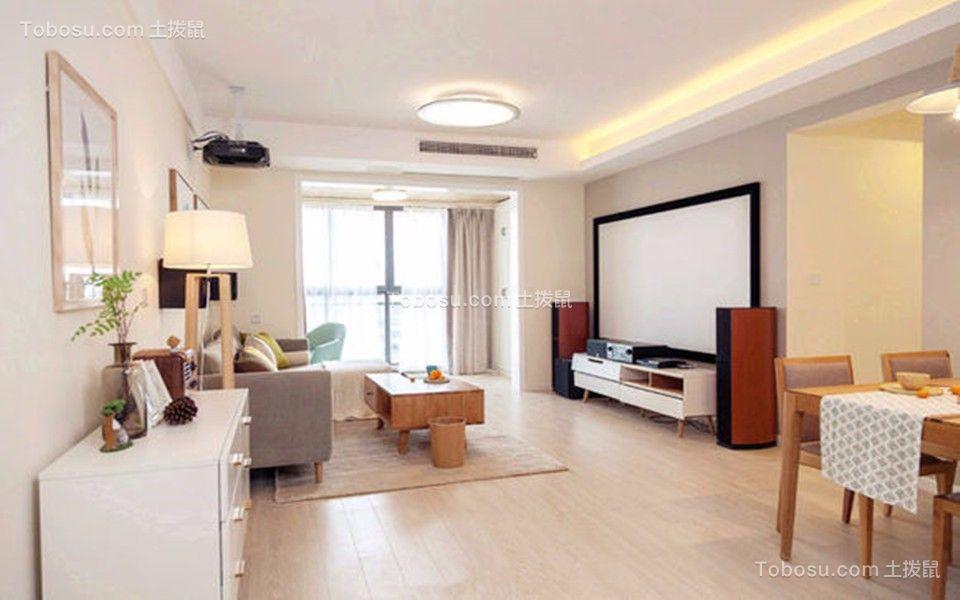 客厅白色吊顶现代风格装修图片