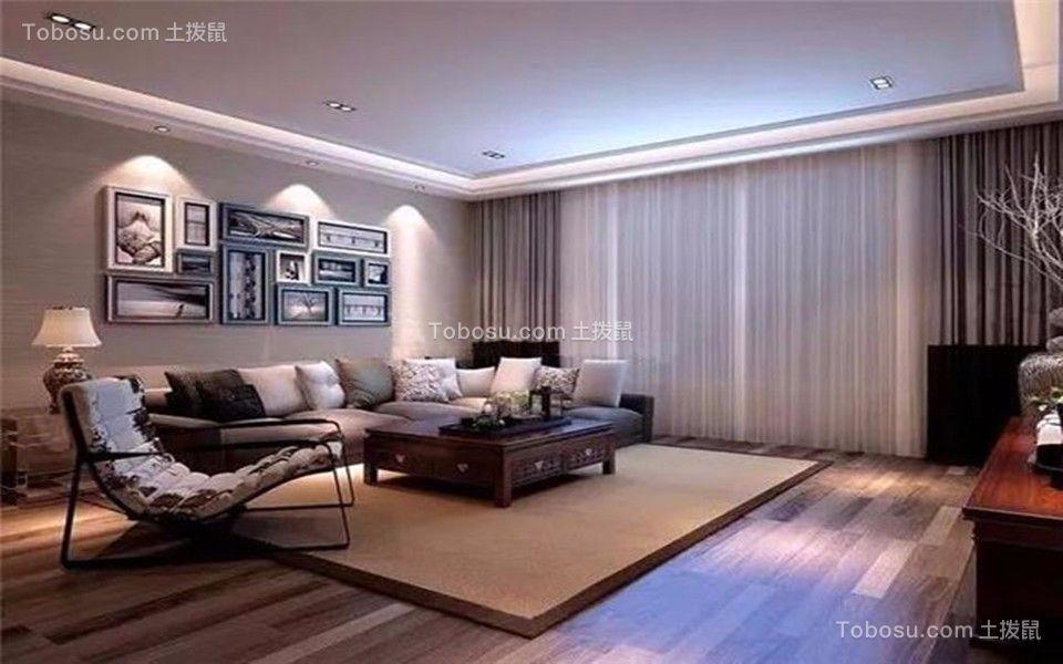 2018现代客厅装修设计 2018现代照片墙装修效果图大全