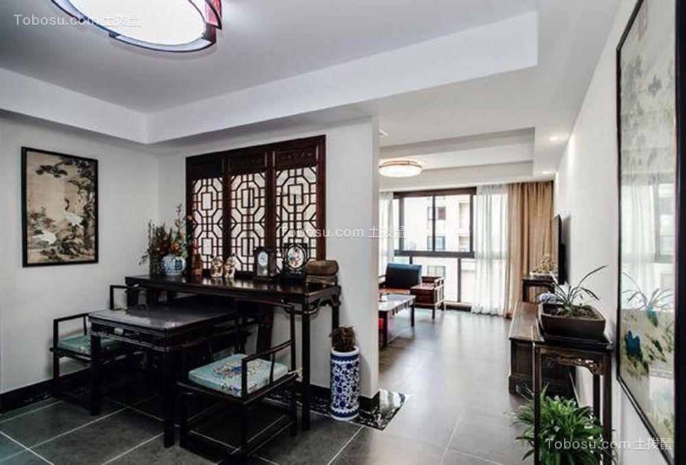 客厅米色窗帘装修设计