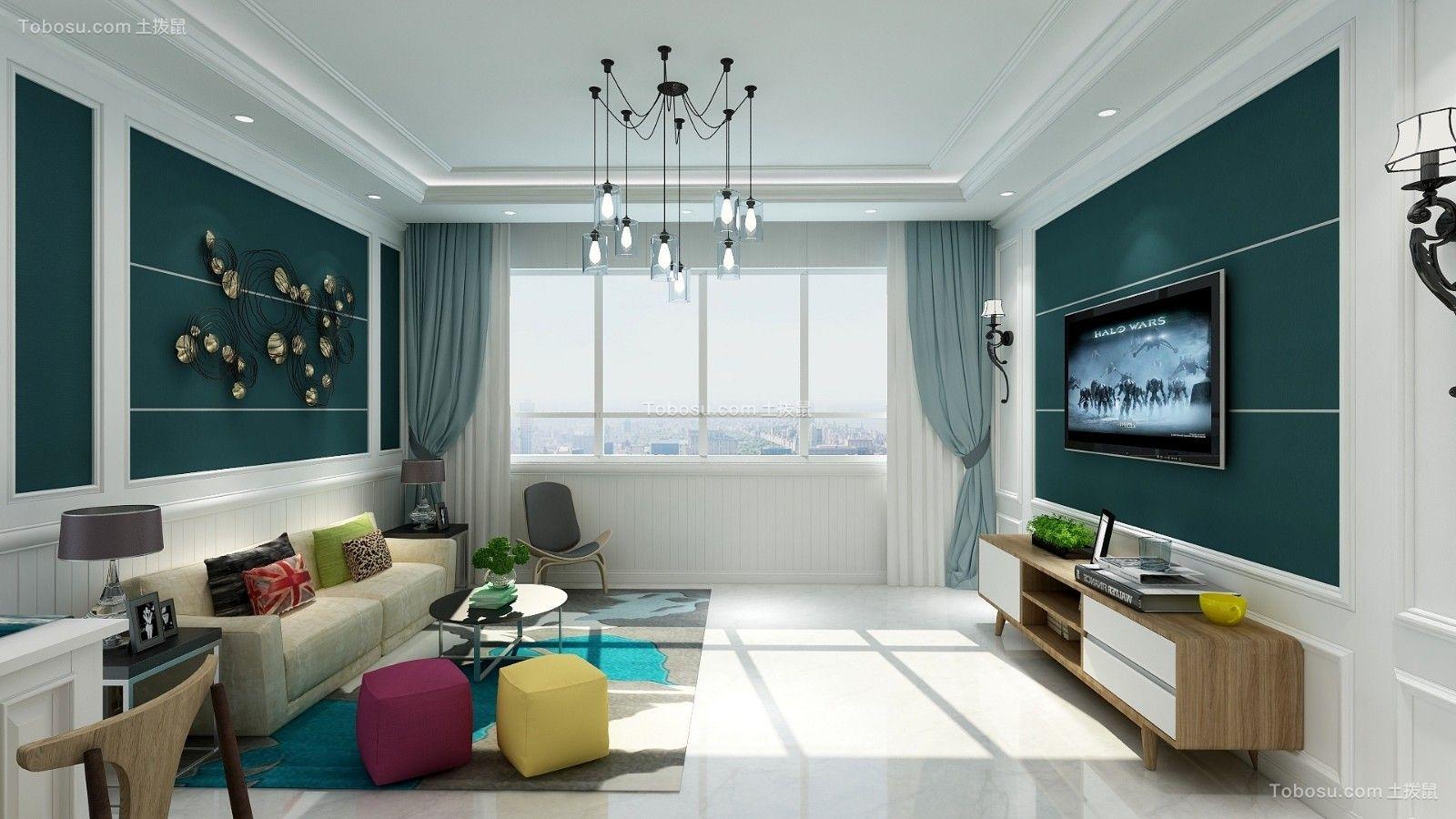 118平简欧风格三居室装修效果图