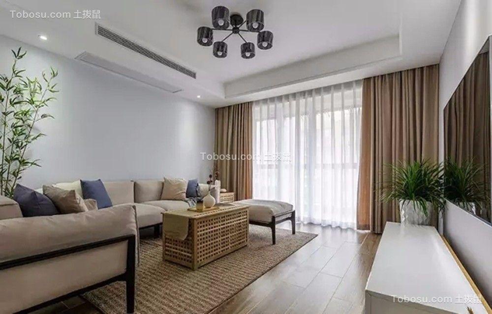 客厅米色沙发简约风格装饰设计图片