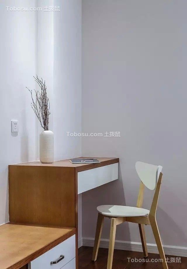卧室黄色书桌简约风格装潢设计图片