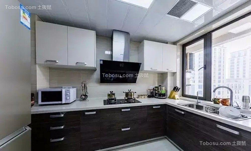 厨房灰色橱柜简约风格效果图