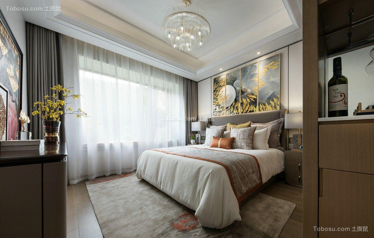 卧室灰色窗帘混搭风格装修图片