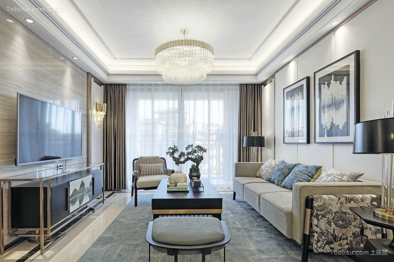浪漫白色客厅设计图