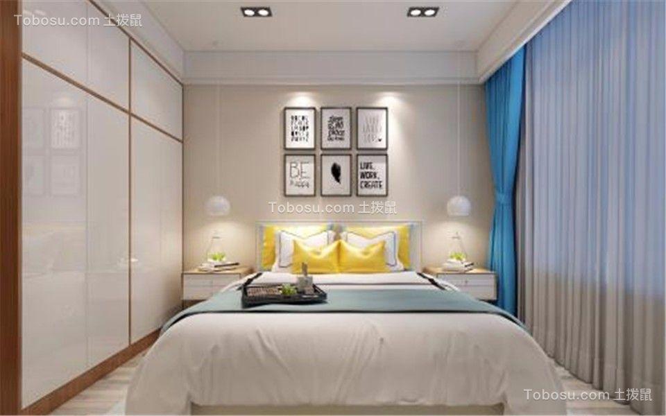卧室白色床北欧风格装饰设计图片