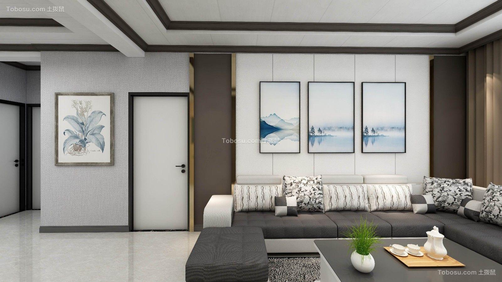 216平现代风格三居室装修效果图