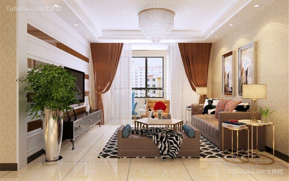 116平现代简约风格三室两厅装修效果图