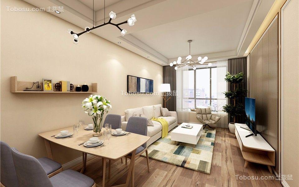 109平现代简约风格两室两厅装修效果图