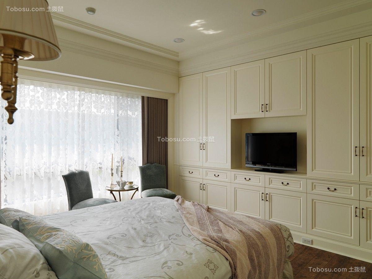 卧室米色衣柜简欧风格装饰图片