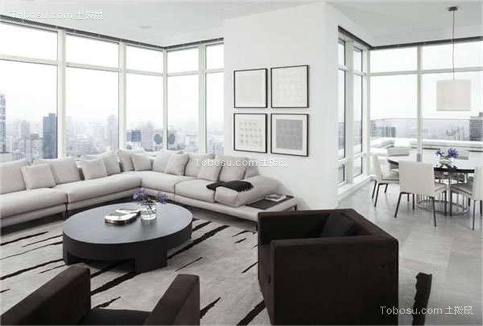 客厅米色沙发现代简约风格装饰图片