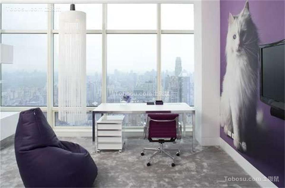 客厅白色落地窗现代简约风格装修效果图