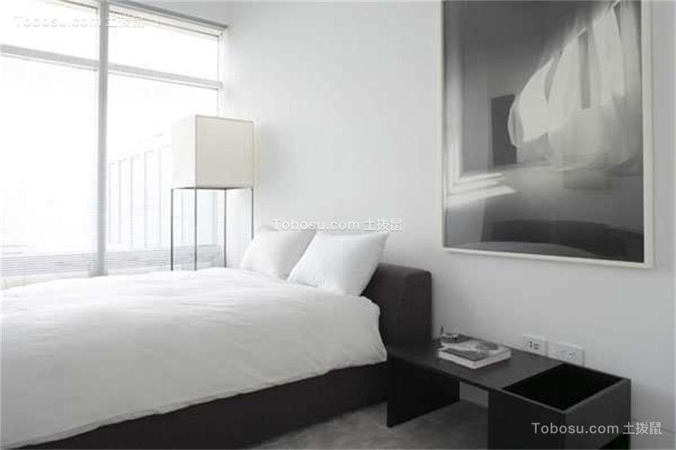 卧室灰色床现代简约风格装饰效果图