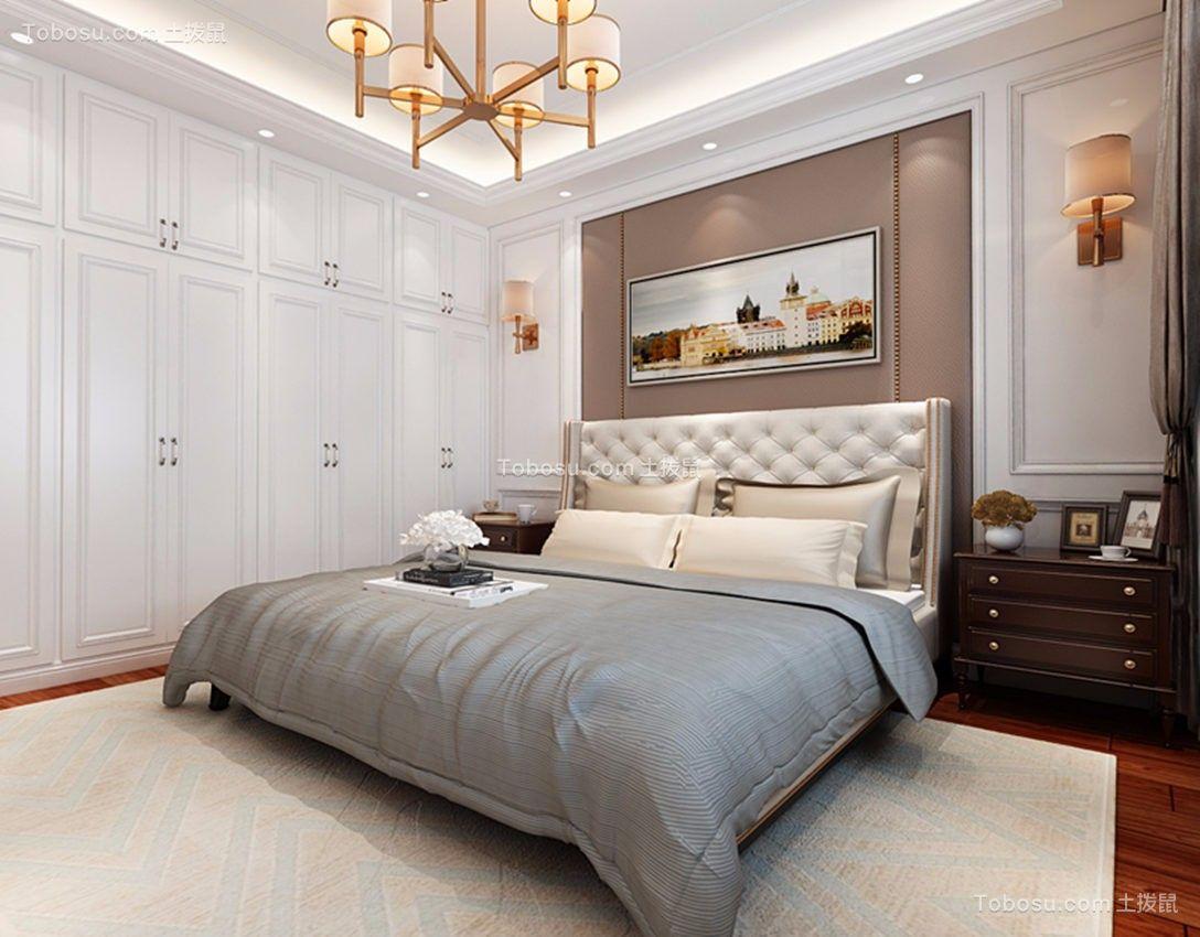 卧室白色衣柜欧式风格装饰图片