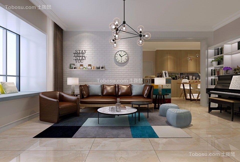 120平北欧风格三居室装修效果图