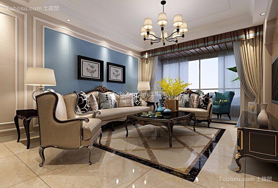 178平美式风格三居室装修效果图