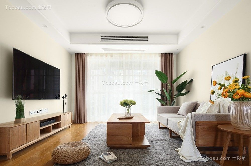 115平日式风格三居室装修效果图
